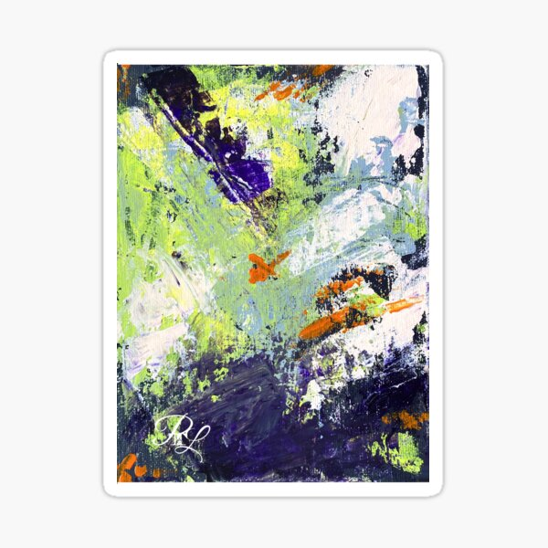 Green Abstract Sticker