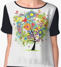 Floral tree summer Chiffon Top