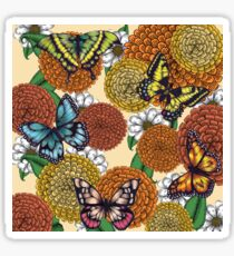 Flowers and Butterflies Pattern Sticker