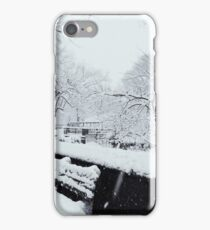 Snowy Bench iPhone Case/Skin