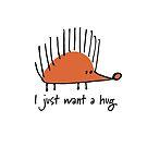 Funny orange hedgehog by Kudryashka