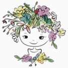 Female portrait with floral hairstyle by Kudryashka