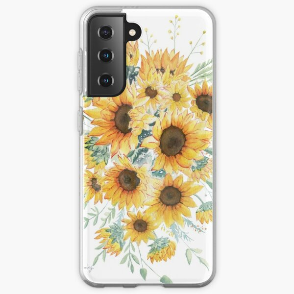 Loose Watercolor Sunflowers Samsung Galaxy Soft Case