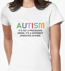 Autism Operating System Women's Fitted T-Shirt