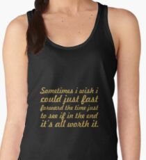 Some times i wish... Inspirational Quote Women's Tank Top