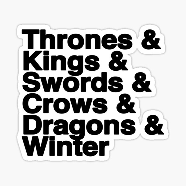 A Song of Ice and Fire Sticker