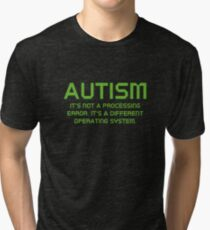 Autism Operating System Tri-blend T-Shirt