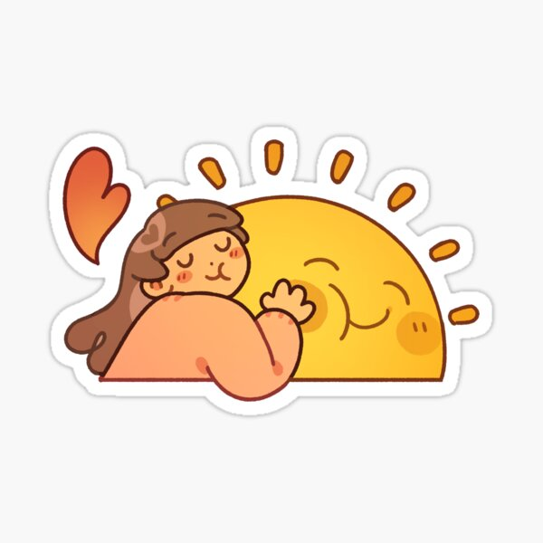 Cute Hugging Sunshine Love Sticker Sticker
