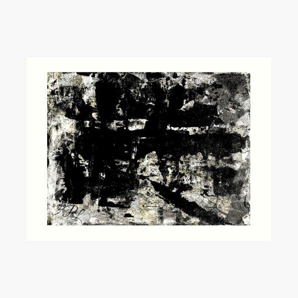 Grey Abstract Art Print