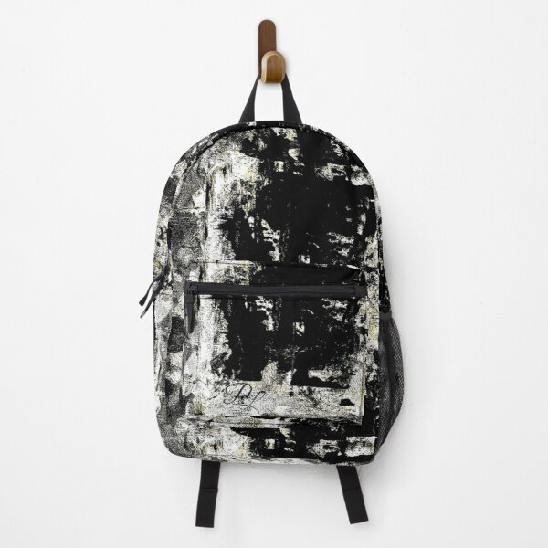 Grey Abstract Backpack