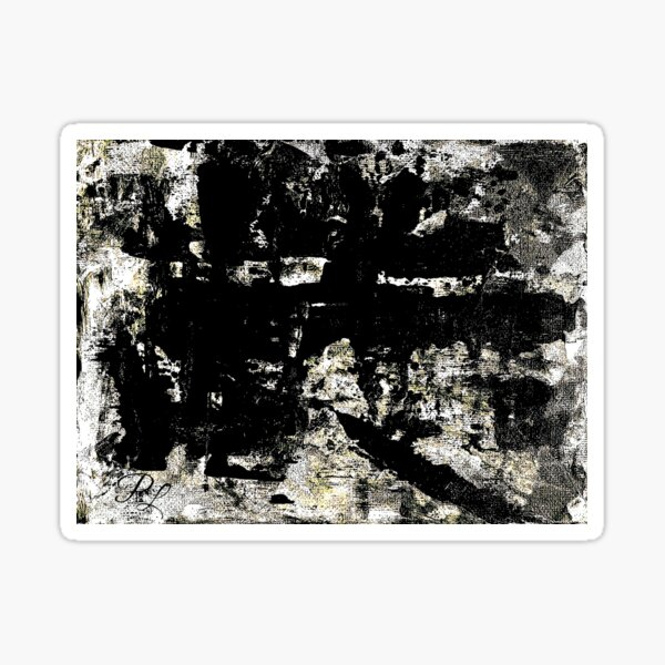 Grey Abstract Sticker