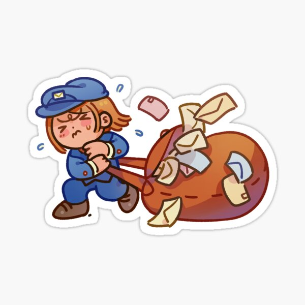 Mailman with Sack of Letters Sticker