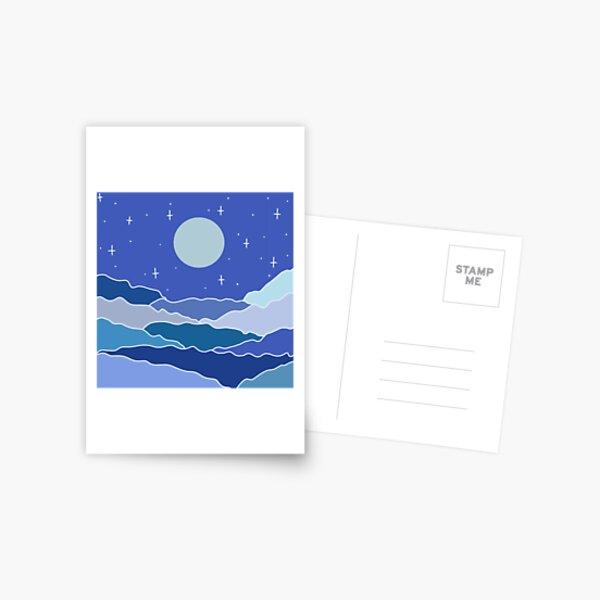 Abstract Night Sky Card Postcard