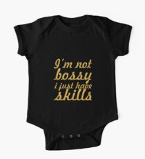 I'm not bossy... Office Inspirational Quote One Piece - Short Sleeve