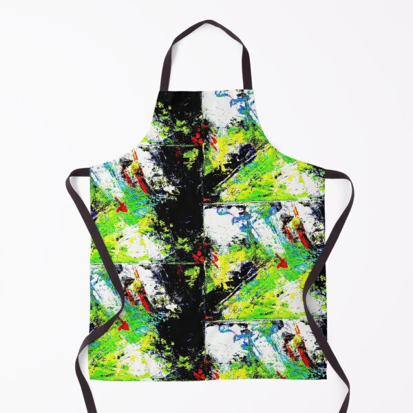 Neon Abstract Apron