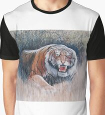 Very angry Tiger in Nepal Graphic T-Shirt