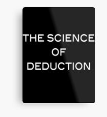 The Science Of Deduction Metal Print