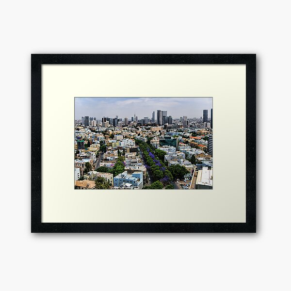 Rothschild boulevard season change Framed Art Print