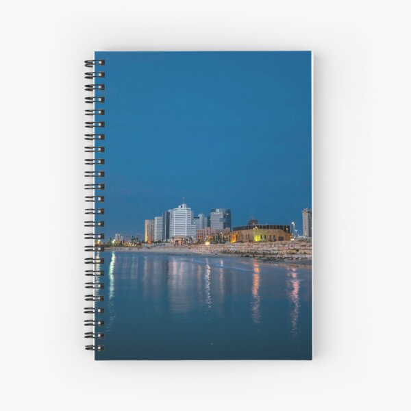 Tel Aviv the blue hour Spiral Notebook