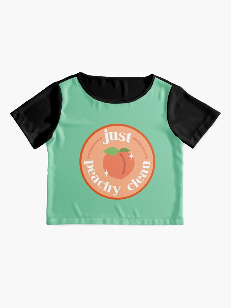 Alternate view of Peachy Clean Fun Cleaning Lady Gifts Chiffon Top