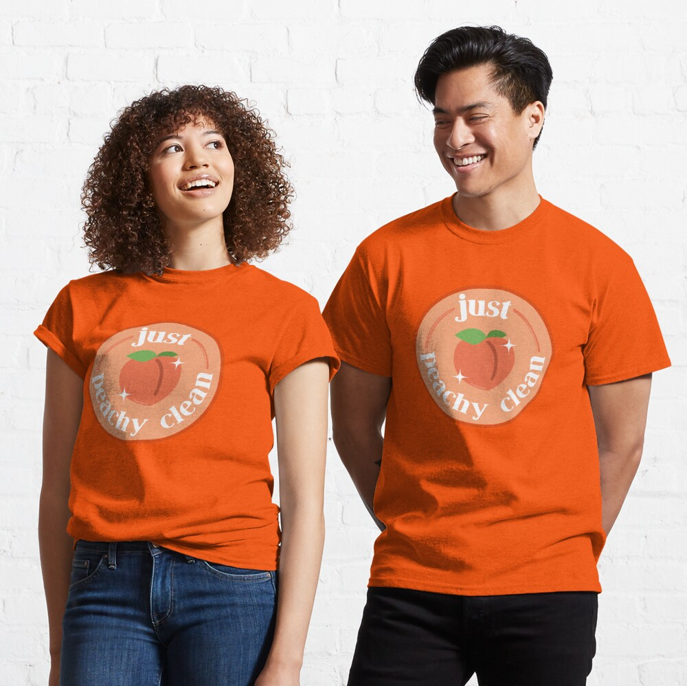 Peachy Clean Fun Cleaning Lady Gifts Classic T-Shirt