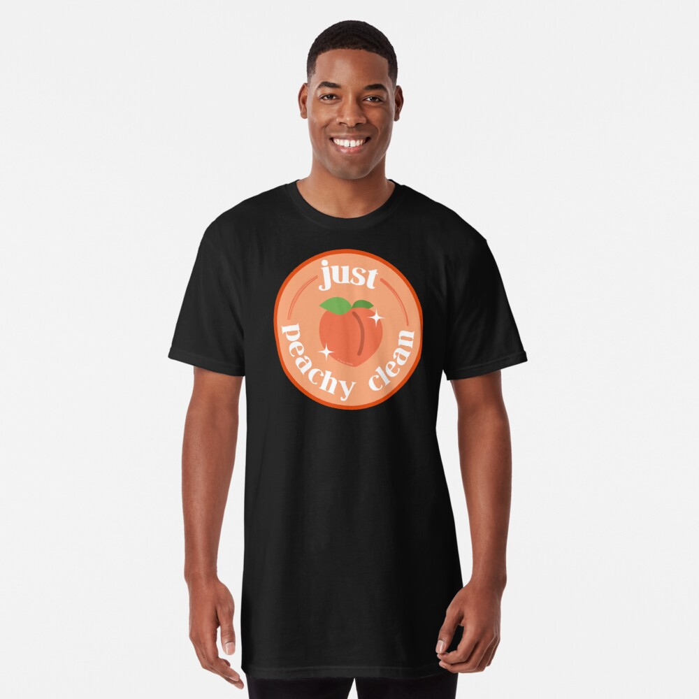 Peachy Clean Fun Cleaning Lady Gifts Long T-Shirt