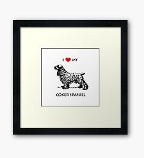 I Love My Cocker Spaniel Dog Framed Print