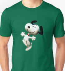 Snoopy, Erdnuss, glücklicher Hund, Unisex T-Shirt