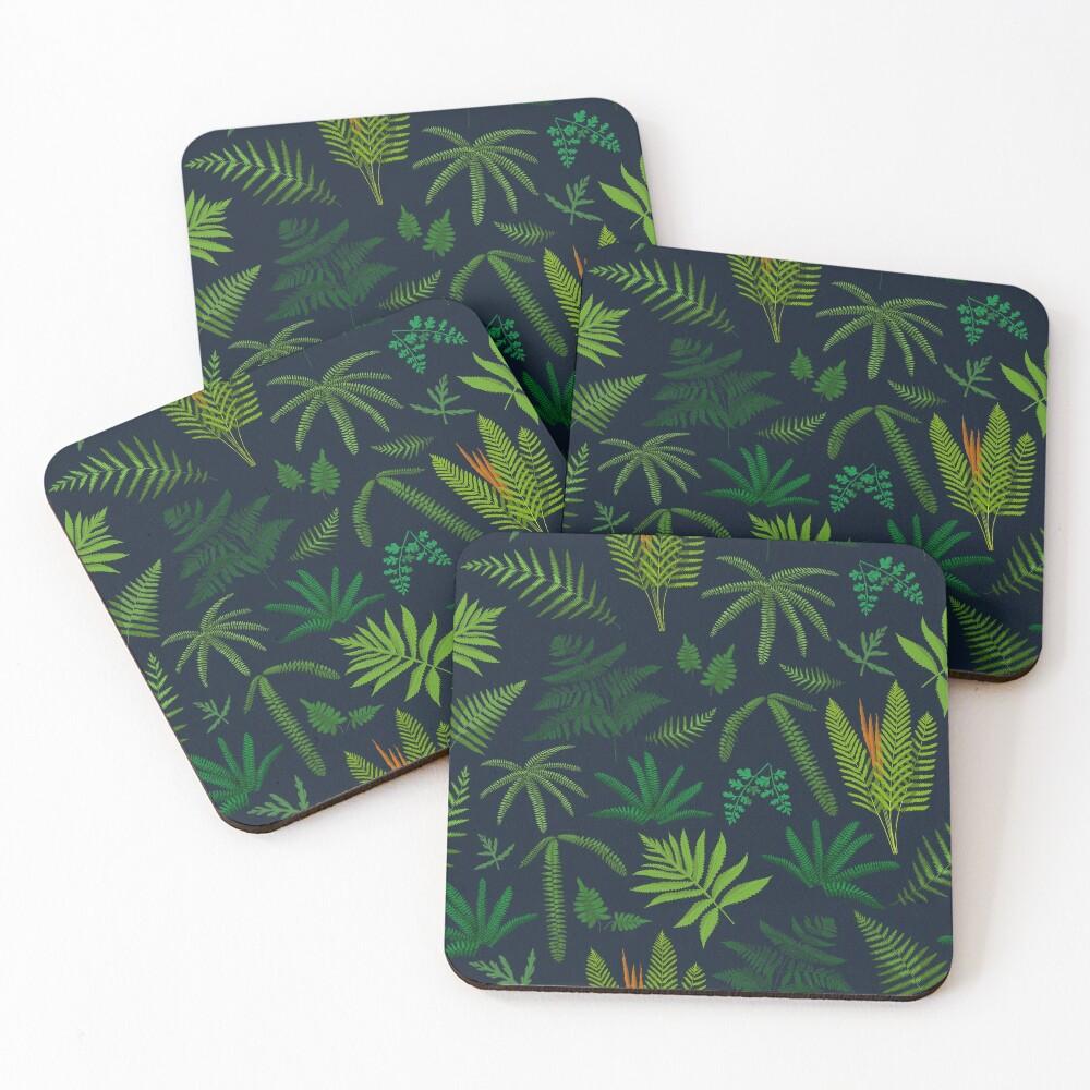 Fresh Adirondack Ferns Coasters (Set of 4)