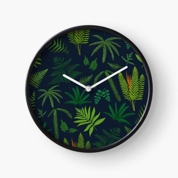 Fresh Adirondack Ferns Clock