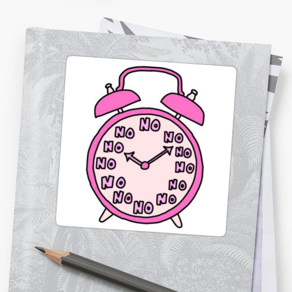 Quot Tumblr Alarm Clock Quot Sticker By Meganbxiley Redbubble