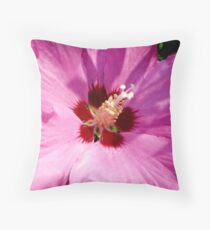 Rosemallow - hibiscus syriacus Throw Pillow