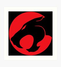 Thundercats movie cartoon logo Art Print