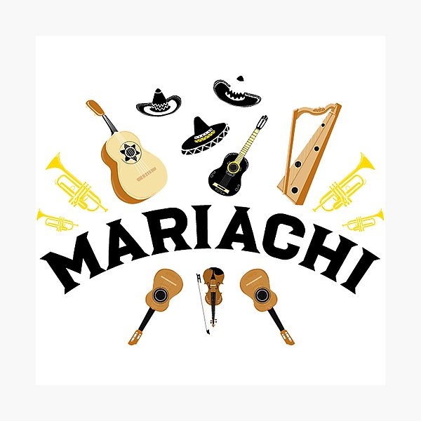 mariachi band pattern bridget Photographic Print