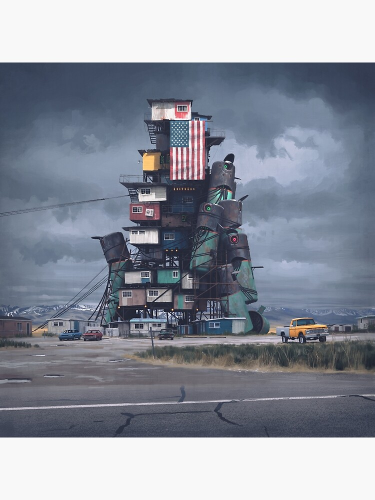 The Mound by simonstalenhag
