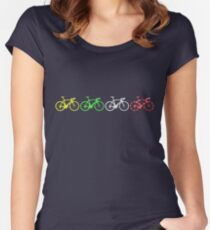 Bike Stripes Tour de France Jerseys v2 Women's Fitted Scoop T-Shirt