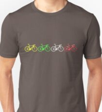 Bike Stripes Tour de France Jerseys v2 Unisex T-Shirt