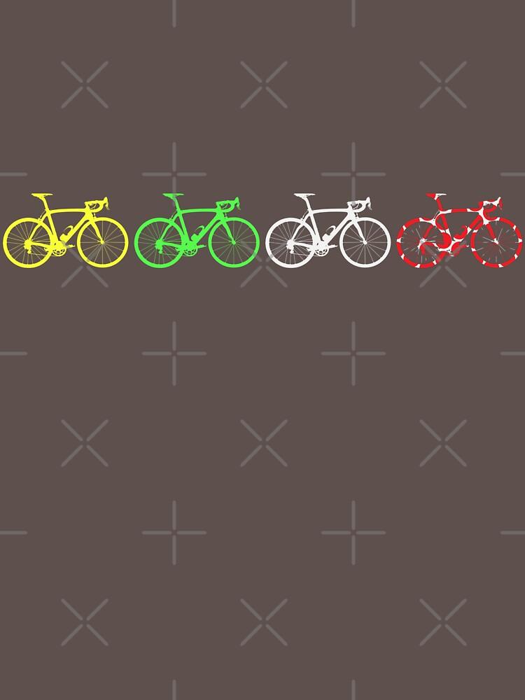 Bike Stripes Tour de France Jerseys v2 | Unisex T-Shirt