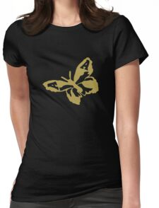 The Avalanches - Gold Wildflower Butterfly Womens Fitted T-Shirt