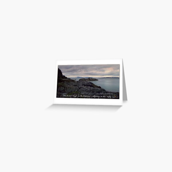 Eigg  and Muck Greeting Card