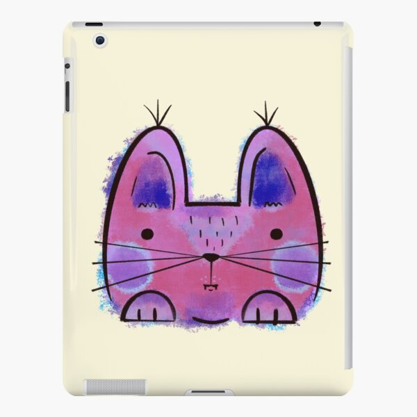 Purple Funny Cat iPad Snap Case