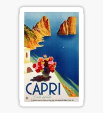 Vintage Capri Travel Sticker