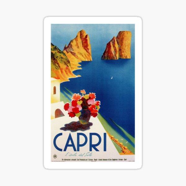 Vintage Capri Italy Travel Sticker