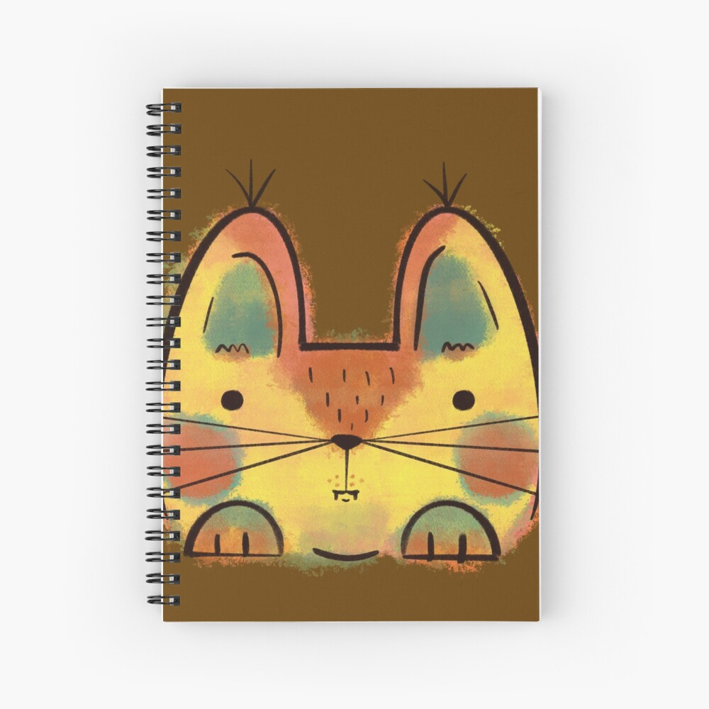 Yellow Funny Cat Spiral Notebook