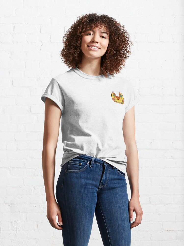Alternate view of Yellow Funny Cat Classic T-Shirt