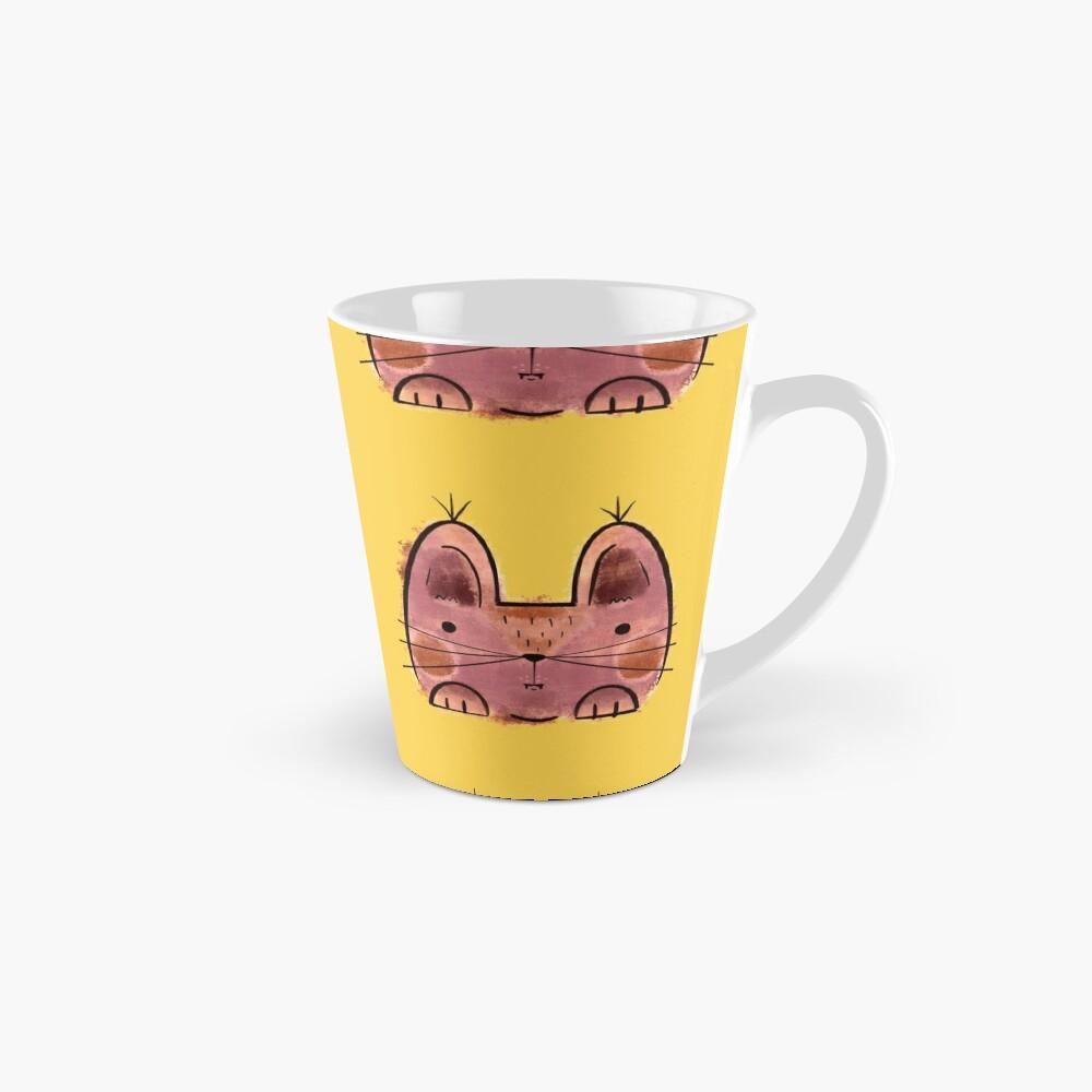 Purple brown Funny Cat Mug