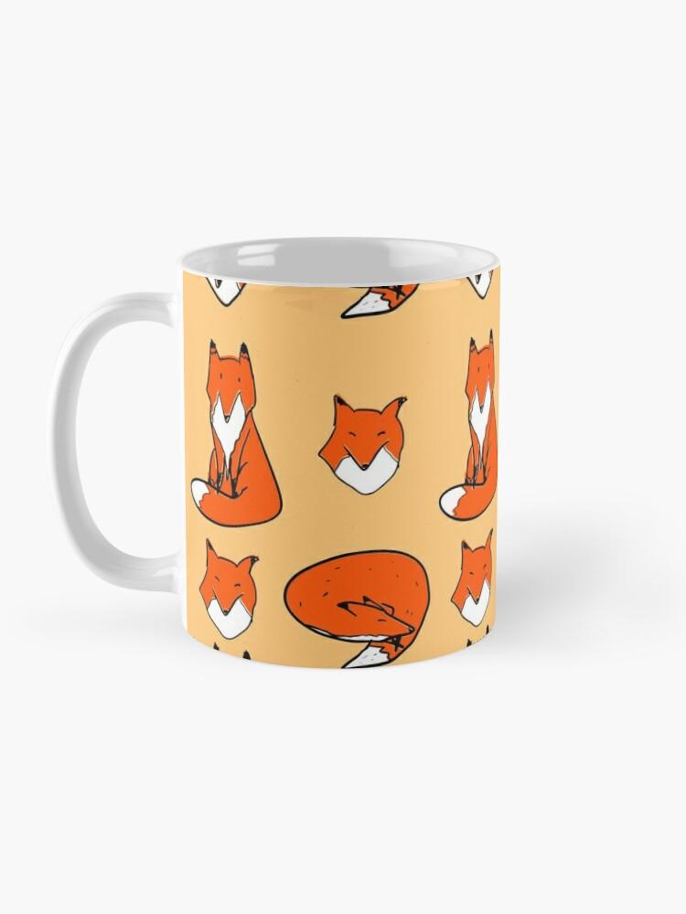 Alternate view of Fox pose Mug