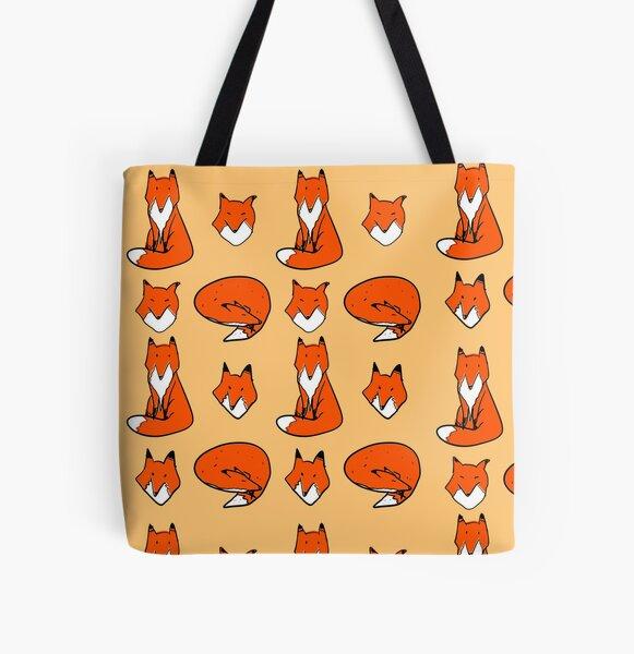 Fox pose All Over Print Tote Bag