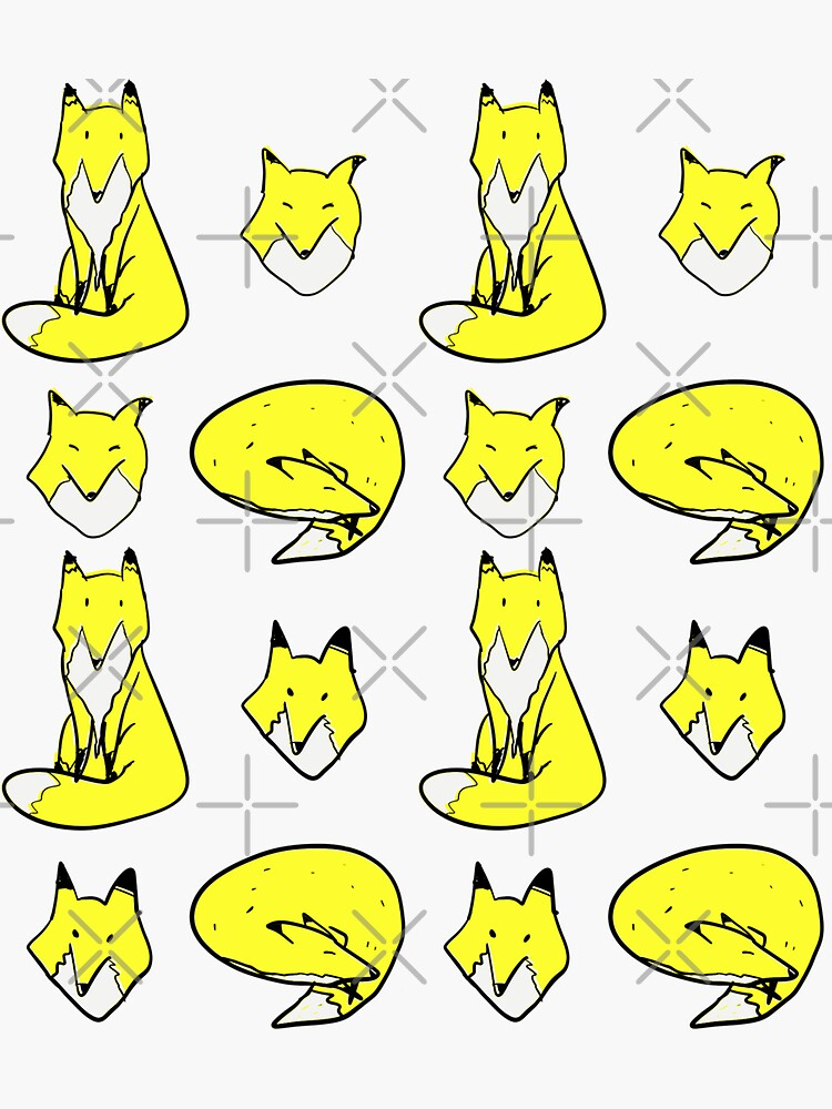 Yellow Blue Fox pose by adarovai