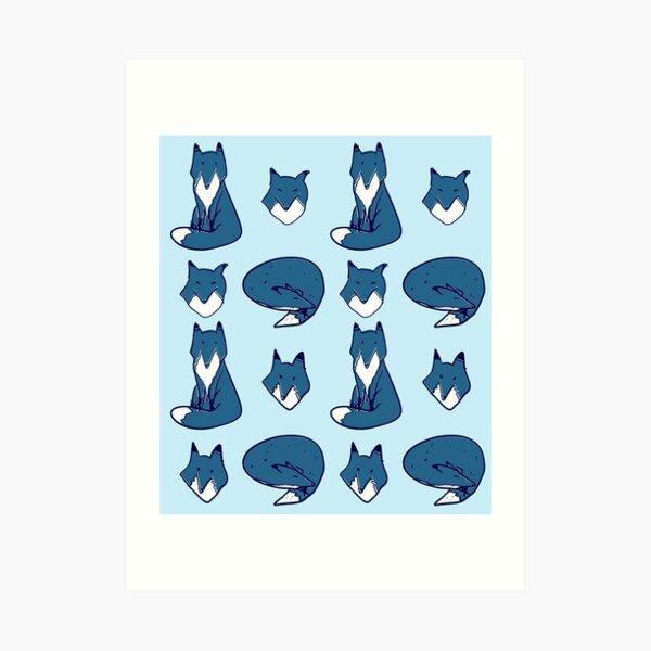 Blue Fox pose Art Print